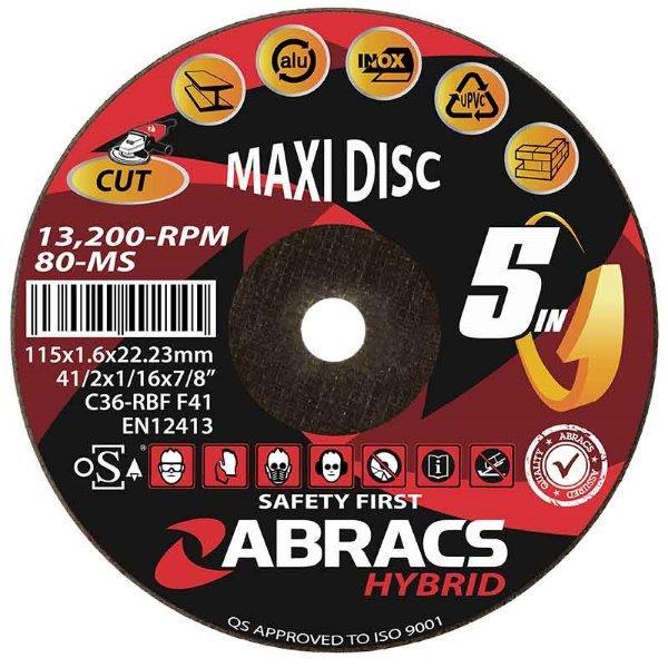 "Abracs   Hybrid ""5in1"" 115 x 1.6 x 22mm Flat Metal"