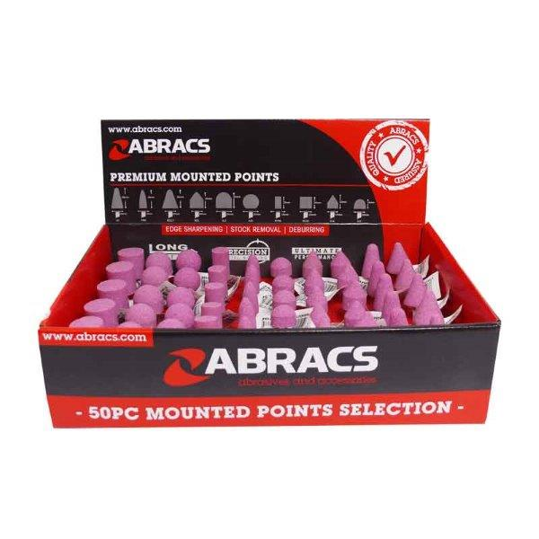 Abracs   50pc Mounted Point Display Pack