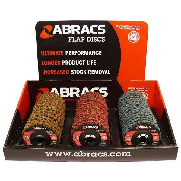 Abracs  NON-WOVEN FLAP DISC 45pc MIXED DISPLAY