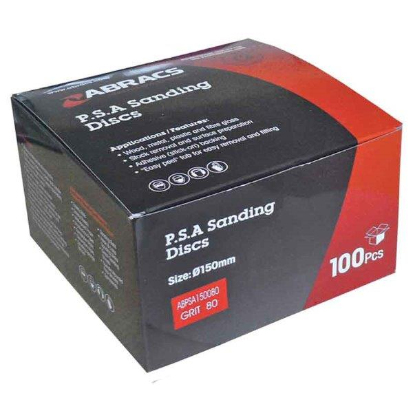 Abracs PSA Sanding Disc 150mm x 40g - 6 Holes