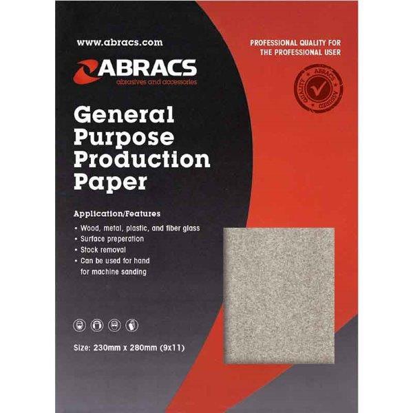 Abracs  SANDPAPER SHEET 230mm x 280mm x 40g