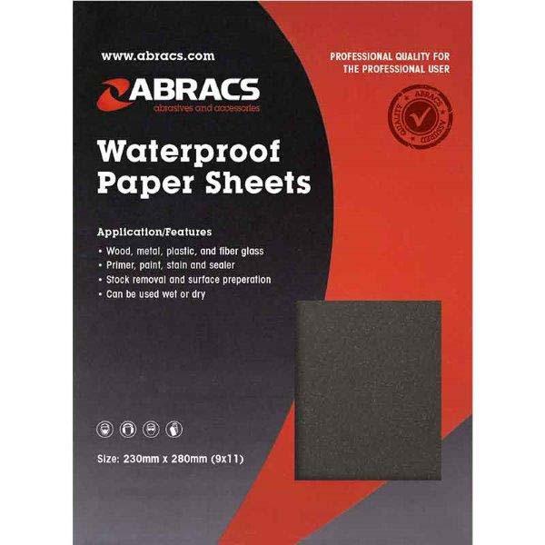 Abracs  WET & DRY PAPER 120 GRIT