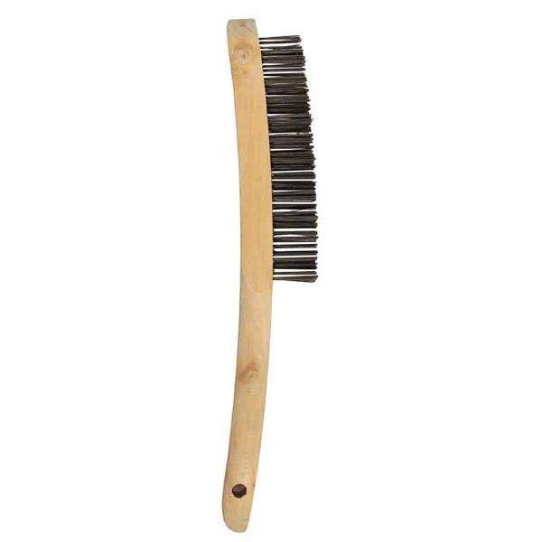 Abracs  4 ROW WOODEN HANDLED BRUSH S/S